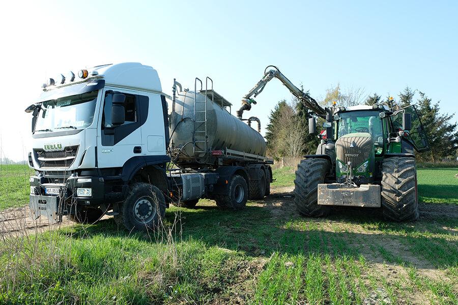 Tankwagen zum Transport für Gülle