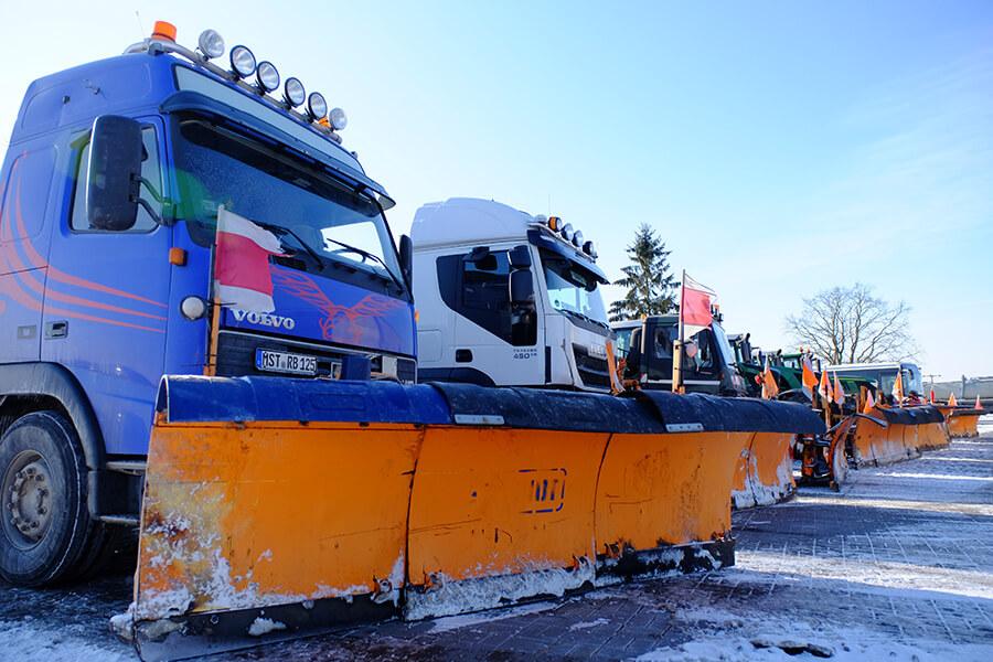Die Winterdienst-Flotte von Rohloff Transporte