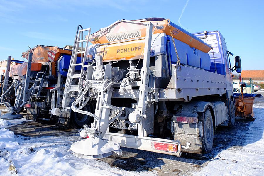 Streufahrzeug vom Winterdienst Rohloff